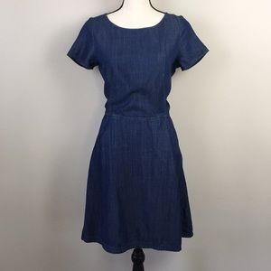 BANANA REPUBLIC Jean Fit And Flare Dress